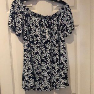 Lane Bryant off the shoulder floral top